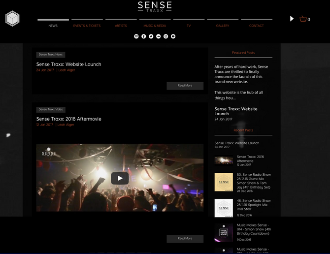 Sense Traxx: Website Launch