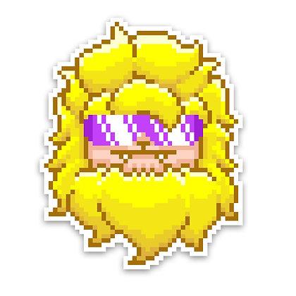 Holographic Yellow Pixel Yeti Sticker