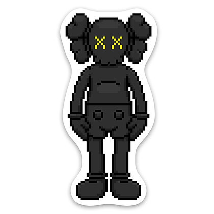 Pixel Friend Sticker - Black