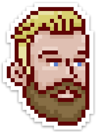 Pixel Sticker of Some Guy