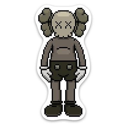 Pixel Friend Sticker - Brown