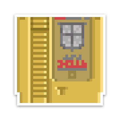 Holographic Pixel Adventure Game Sticker