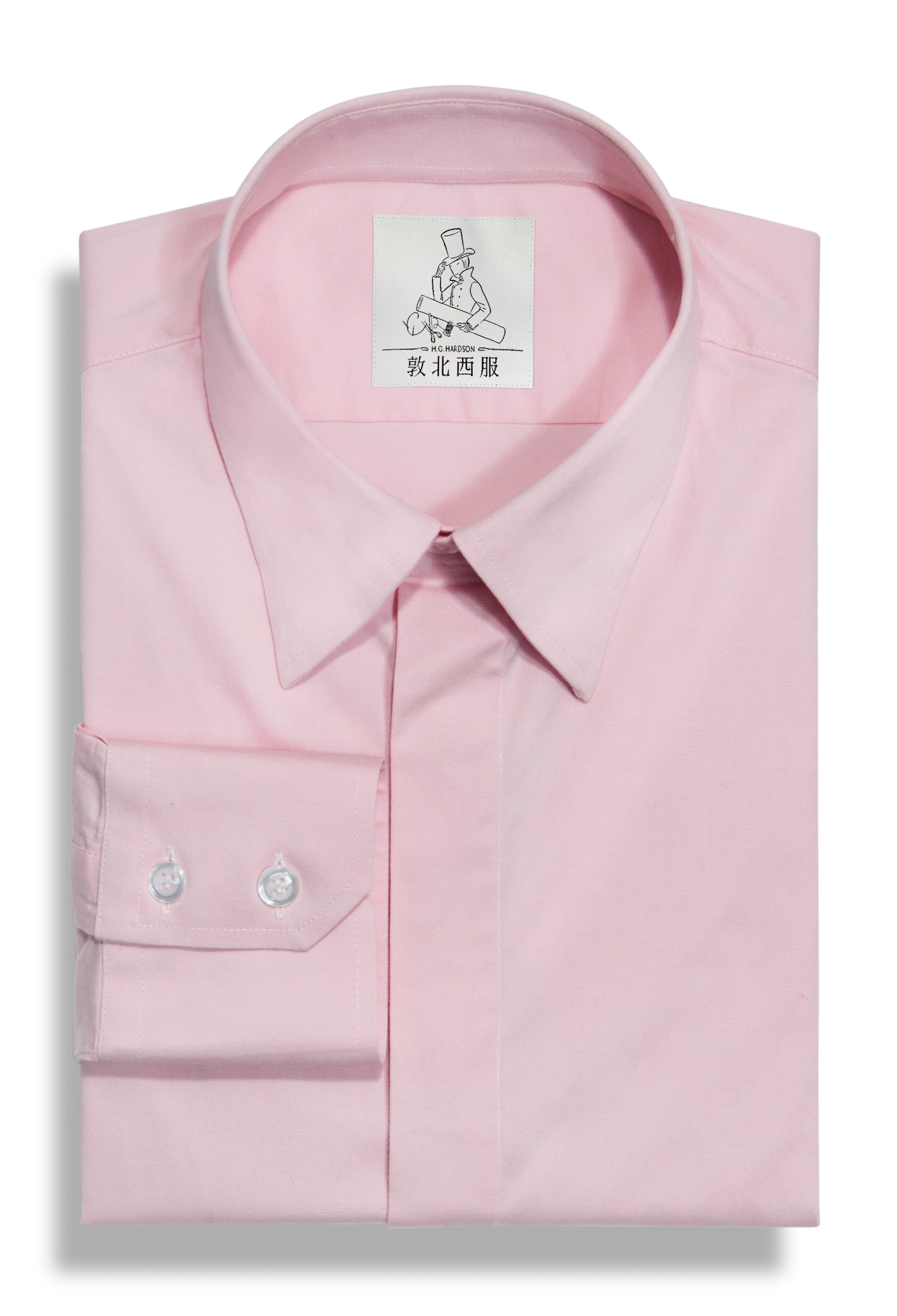 粉紅純棉襯衫