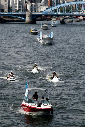 TPSP講師陣が、隅田川で精力的に活動中!!