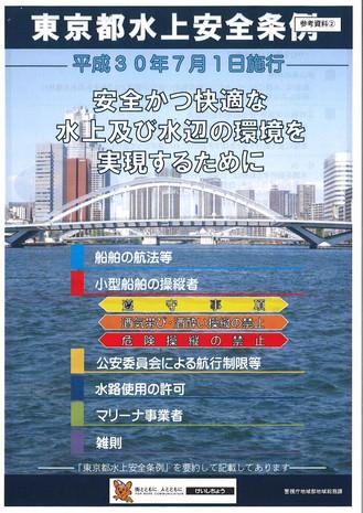 7月1日よりいよいよ東京都水上安全条例施行されます!