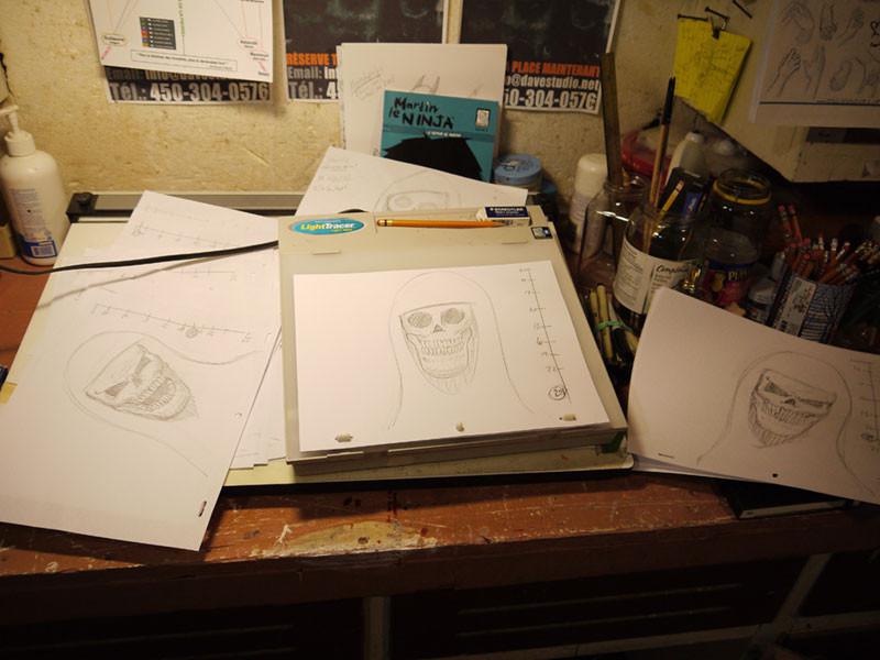 Les crayonnés de l'animation.