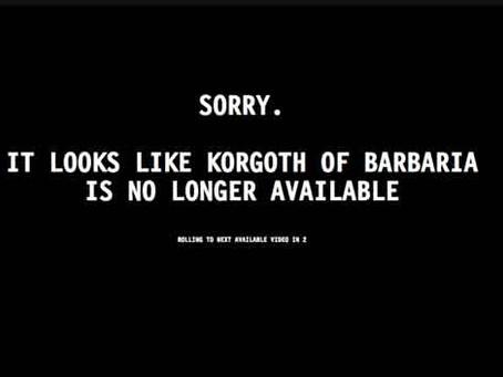 Korgoth of Barbaria : l'excellent pilote que personne ne voulait.