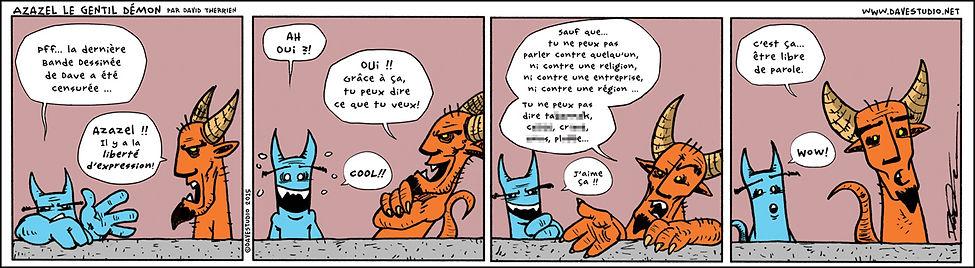 Bande dessinée Azazel - comic strip. ©DaveStudio Tous droits réservés.