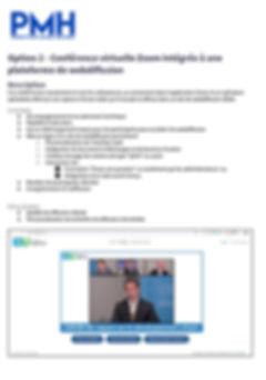 PMH service de web diffusion