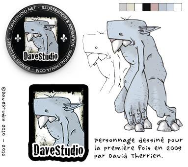 La création du nouveau logo de DaveStudio en 2010