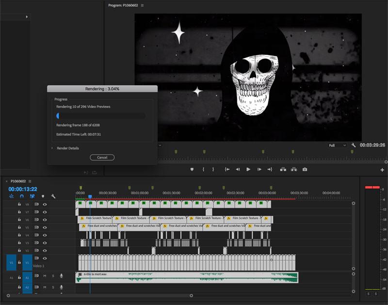 Compositing & Montage vidéo dessin animé.