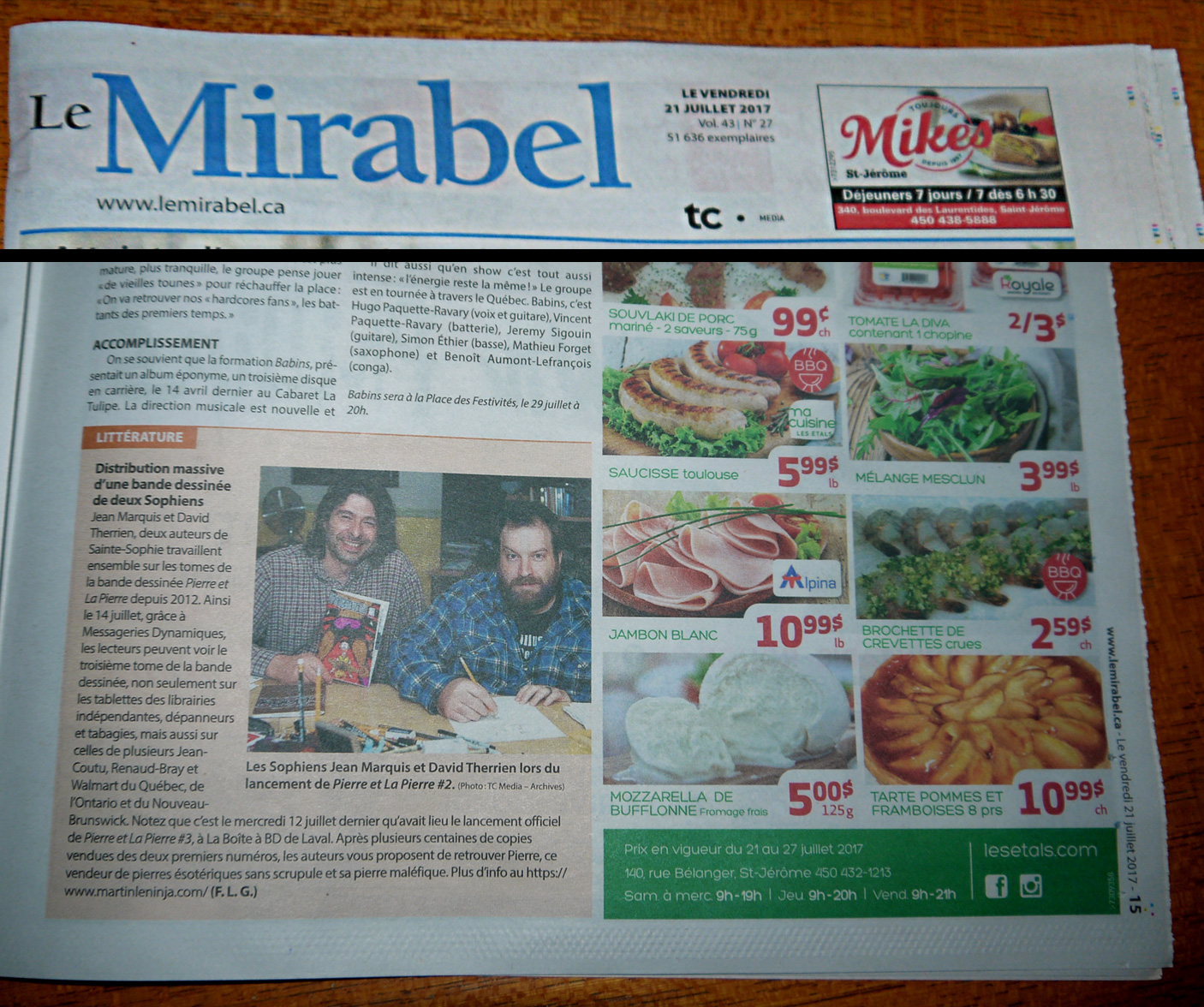 Journal Le Mirabel