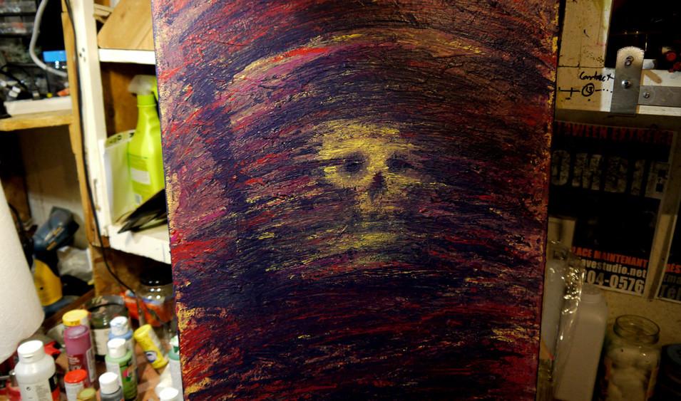 Peinture acrylique abstraite sur toile