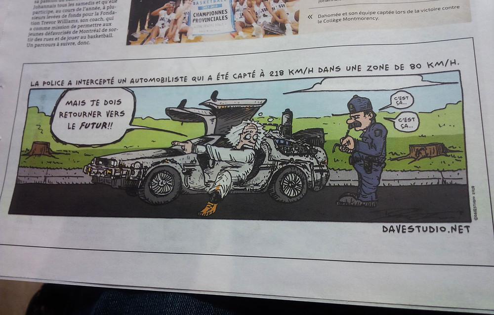 Illustration pour accompagner une nouvelle dans un journal local