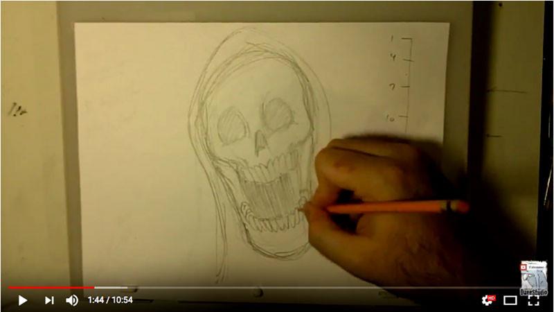 Capture d'écran du Making of du vidéo clip.