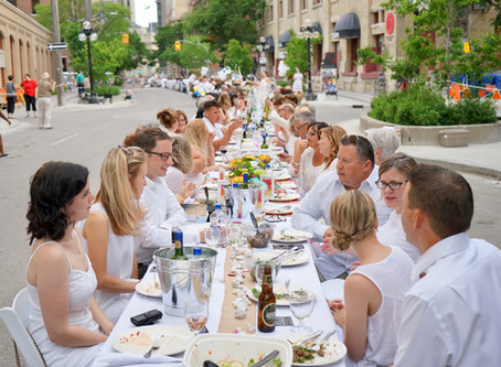 Table for 1200 More: Winnipeg feiert trendiges Dîner en blanc