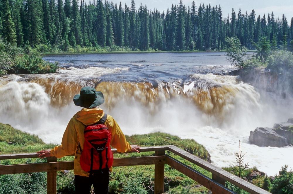 waterfall Northern Manitoba