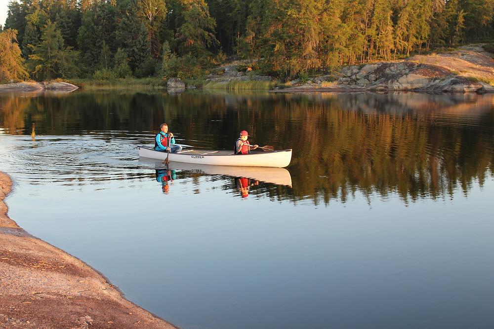 Kanu Kanutour canoeing Paddeln paddling Wildnis Nopiming Provincial Park Provinzpark wilderness Einsamkeit solitude nature Natur Idylle Lagerfeuer campfire Zelt Zelten Camping See Lake