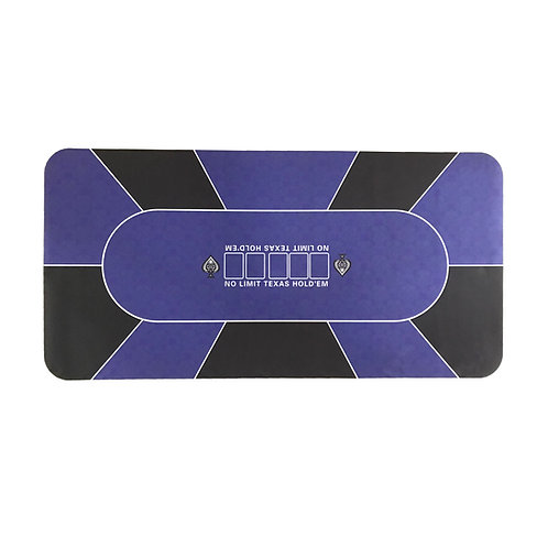 Purple/Black Suited Poker Table Overlay Rubber Mat with Dust Bag