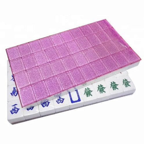 A1 Size Purple 160 Tiles Crystal Singapore Mahjong Set