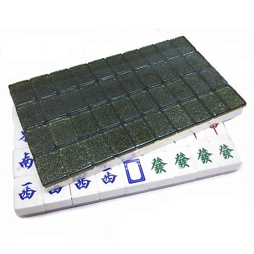 A1 Size Dark Gold 160 Tiles Crystal Singapore Mahjong Set