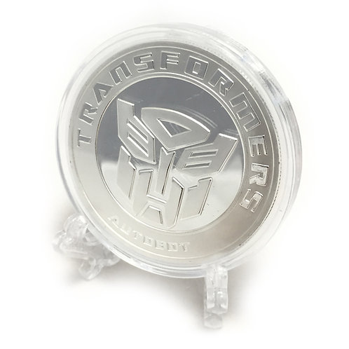 Silver Transformers Poker Card Guard