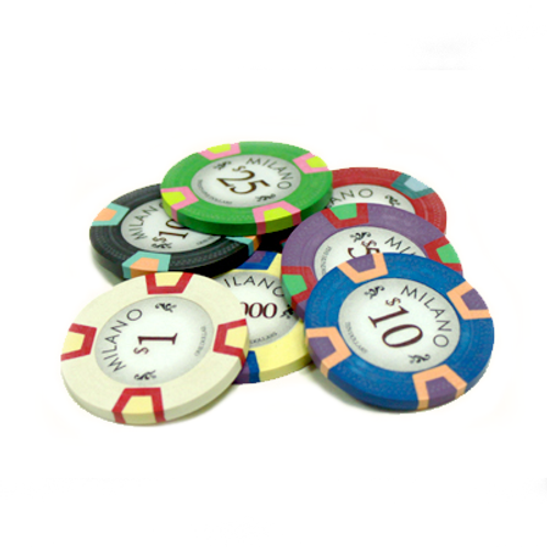 The Milano Poker Chips *Choose Your Own*