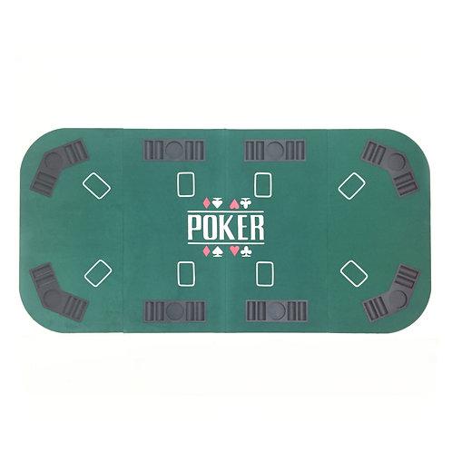 8 Players Green Rectangular Poker Table Top
