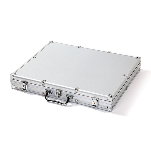 1000 Silver Aluminium Poker Chip Case