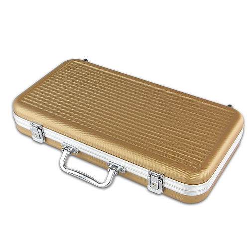 300 Gold ABS Poker Chip Case