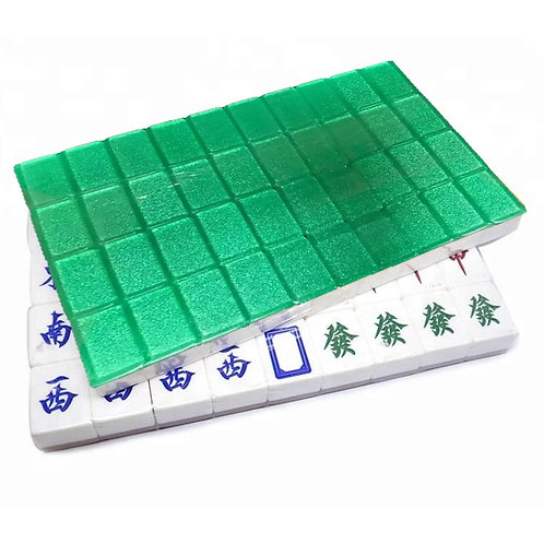 A1 Size Green 160 Tiles Crystal Singapore Mahjong Set