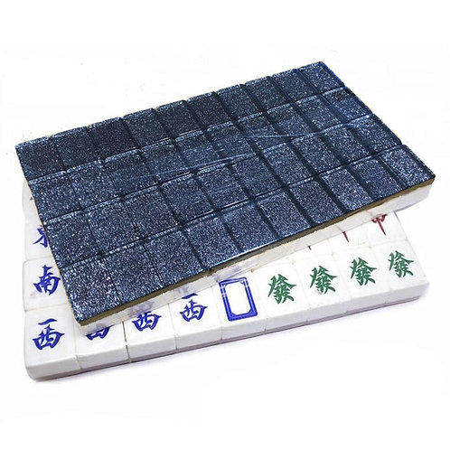 A1 Size Dark Silver 160 Tiles Crystal Singapore Mahjong Set