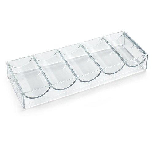 Acrylic Chip Tray (Fits 100 Poker Chips)