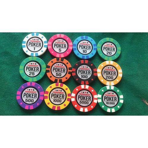 14g Poker Tournament 300s Poker Chip Set (Premium)
