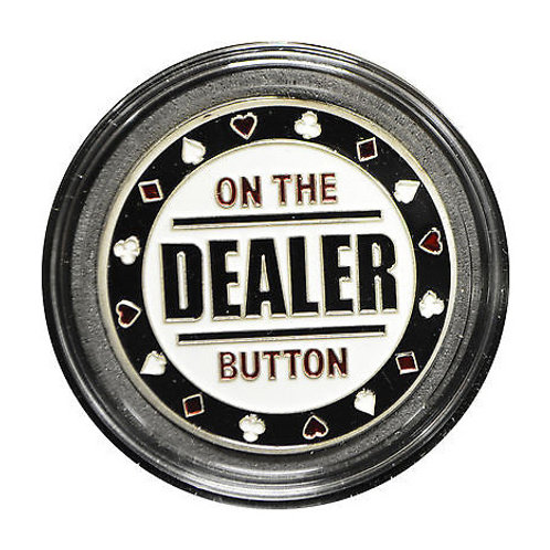 """On the Button"" Dealer Card Guard / Button"