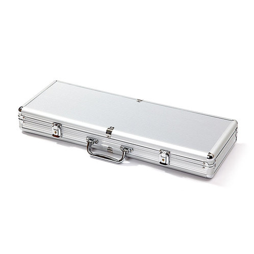 500 Silver Aluminium Poker Chip Case