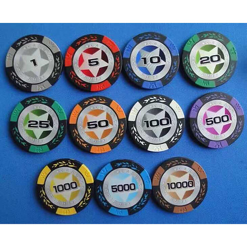 14g Texas Star 500s Poker Chip Set (Premium)