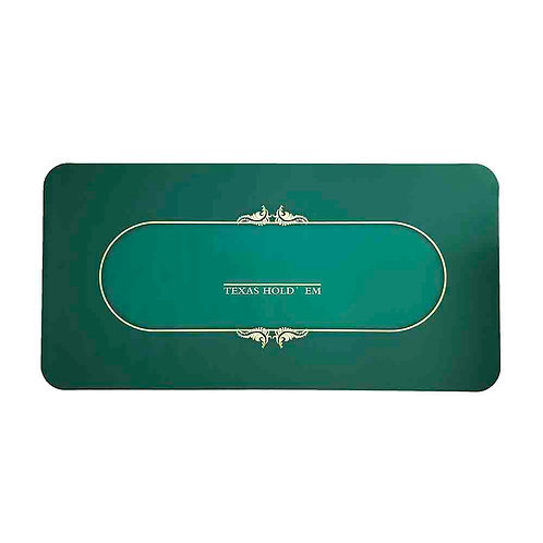 Green Poker Table Overlay Rubber Mat with Dust Bag