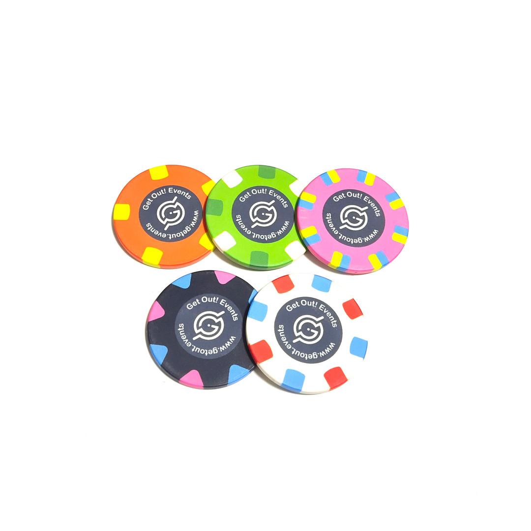 custom ceramic poker chip