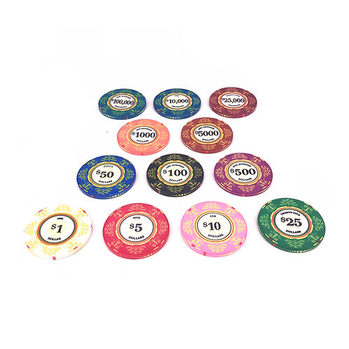 Pre Order: 500s Venerati Poker Chip Set (Ceramic)
