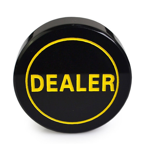 Black Acrylic Dealer Button