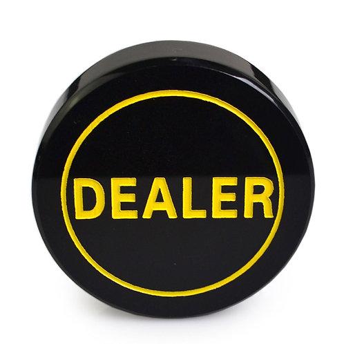 Black Acrylic Dealer Button