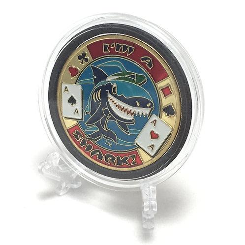 """""""I'm A Shark"""" Poker Card Guard"""