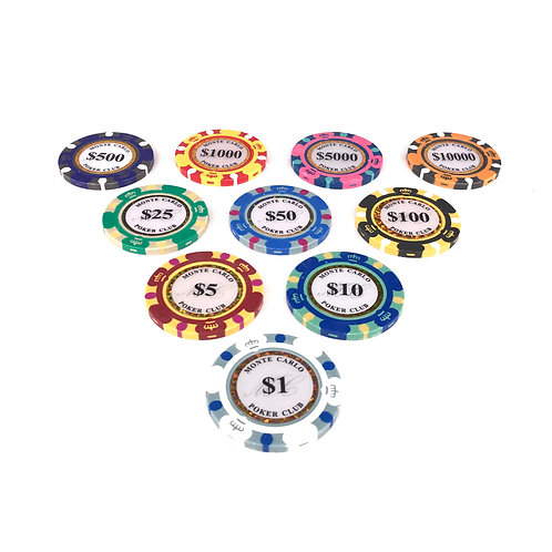 Monte Carlo Gold Edition Poker Chips (Premium)