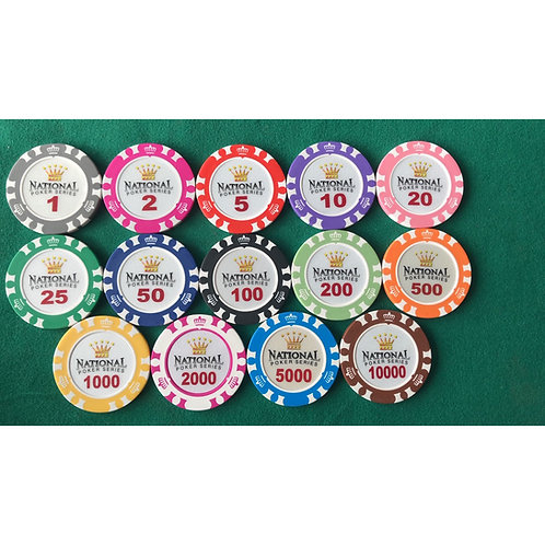 14g National Poker Series 300s Poker Chip Set (Premium)