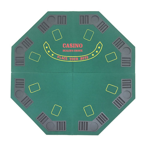 8 Players Green Octagon Poker Table Top