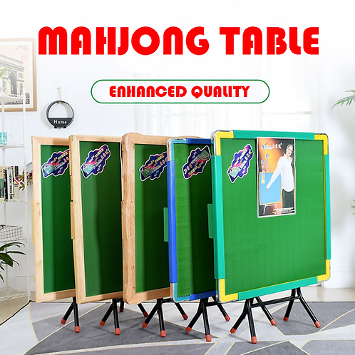 Foldable Mahjong Table (Wood and metal options)