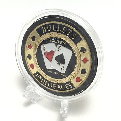 """Bullets AAs"" Poker Card Guard"