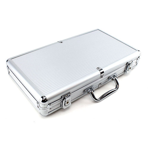 300 Silver Aluminium Poker Chip Case