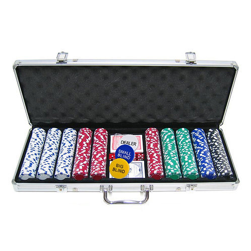 Stripes and Dices 500s ABS Poker Chip Set (Plastic)